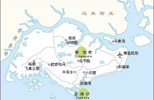 新加坡旅游景点分布图