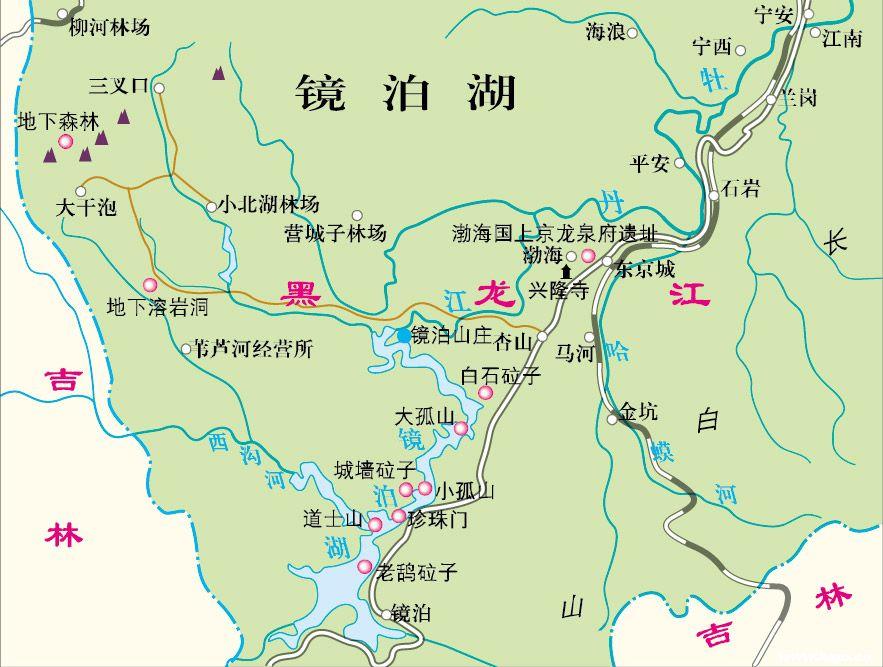 郑州青旅,河南青旅,河南旅行社,镜 泊湖地图.jpg