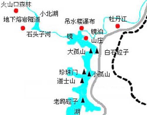 郑州青旅,河南青旅,郑州旅行社,镜 泊湖景区地图.jpg