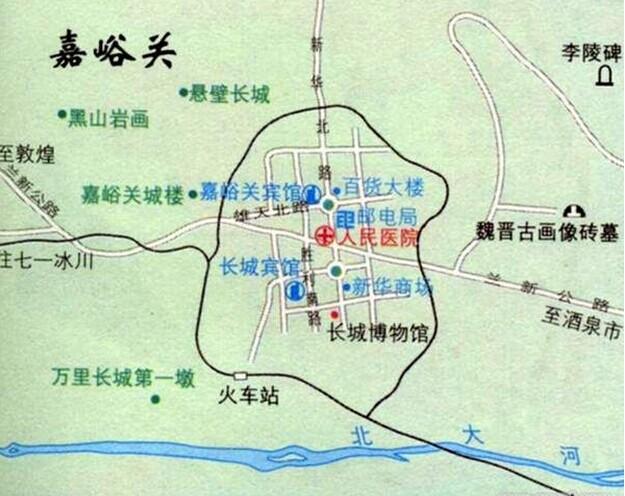 郑州旅游公司,河南旅游公司,中国青年旅行社,嘉 峪关导游地图