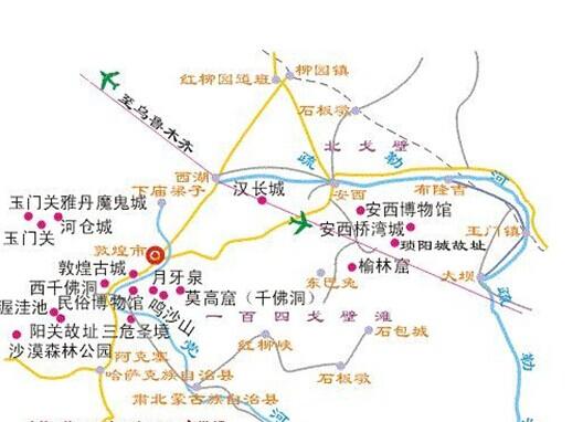 郑州旅游公司,河南旅游公司,中国青年旅行社,敦 煌地图