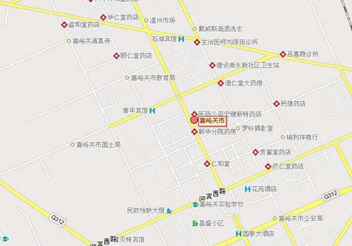 郑州旅游公司,河南旅游公司,中国青年旅行社,嘉 峪关市区地图
