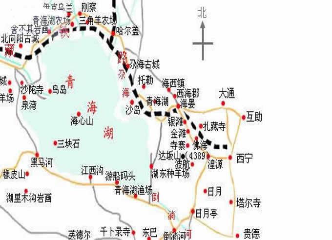 郑州旅游公司,河南旅游公司,中国青年旅行社,青 海湖地图