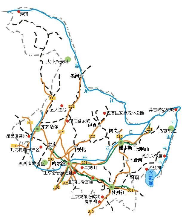 郑州旅游公司,河南旅游公司,郑州青年旅行社,黑 龙江旅游地图