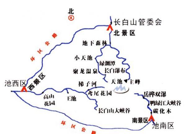 长白山景区地图