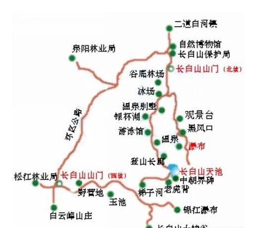 郑州旅游公司,河南旅游公司,郑州青年旅行社,长 白山导游图