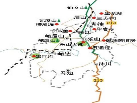 郑州旅游公司,河南旅游公司,郑州青年旅行社,乐 山大佛旅游地图