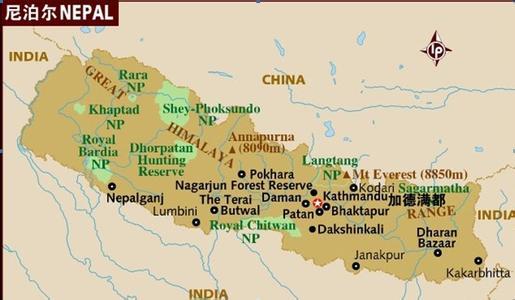 郑州旅游公司,河南旅游公司,郑州青年旅行社,尼 泊尔地图