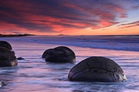 郑州中青旅,河南中青旅,郑州旅行社,新 西兰摩拉基巨石