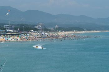 郑州旅游公司,河南旅游公司,郑州青年旅行社,韩 国注文津海边